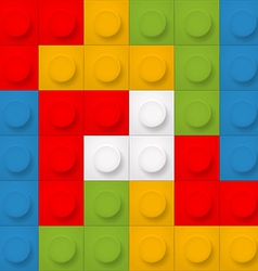Color constructor blocks seamless background vector