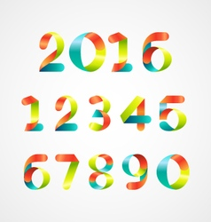 Set of colorful number 0-9 vector
