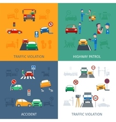 Traffic violation set vector