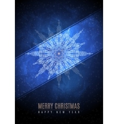 Merry christmas happy new year fancy gold winter vector