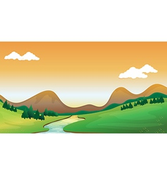 A mountain view vector