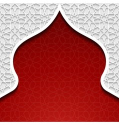 Abstract background with traditional ornament vector image vector image