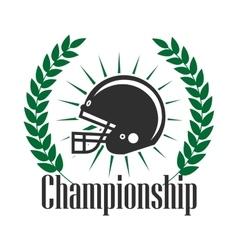 American football championship retro badge design vector image vector image