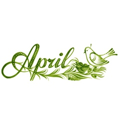 April the name of the month vector image vector image