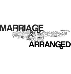 Arranged marriage text word cloud concept vector