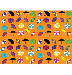 background with umbrellas vector image vector image