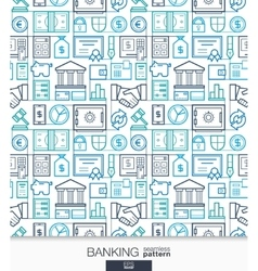 Banking and finance wallpaper Bank seamless vector image vector image