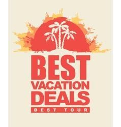 best tour vector image vector image