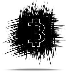 bitcoin hand drawn sketch vector image