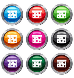 Box magician set 9 collection vector