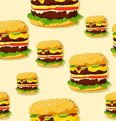 Burger pattern vector