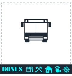 Bus icon flat vector image vector image