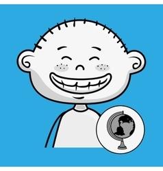 Character school student icon vector