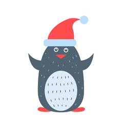 closeup of penguin wearing hat vector image