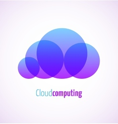 Cloud computing logo template icon vector image vector image