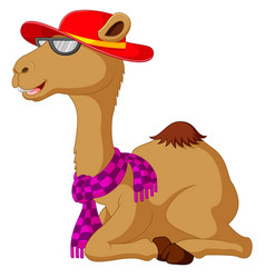 cute camel cartoon sitting vector image