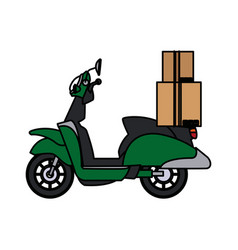 Delivering motorcycle business transport service vector