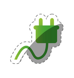 Environment plug electricity cut line vector