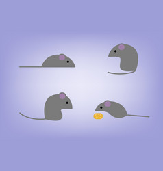 flat mouses vector image vector image