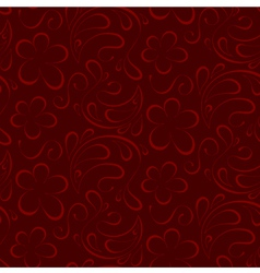 floral seamless background red pattern to burgundy vector image vector image