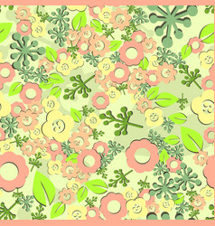 Flower seamless pattern spring vector