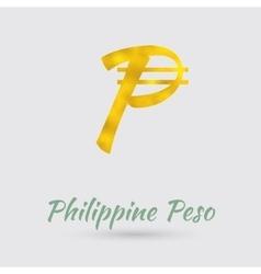 Golden peso symbol vector