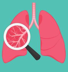 Human lung anatomy diagram vector