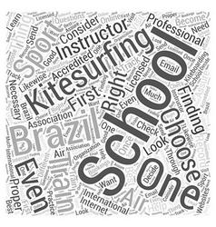Kitesurfing school brazil word cloud concept vector