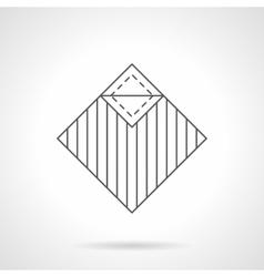 Linoleum covering flat line icon vector image vector image