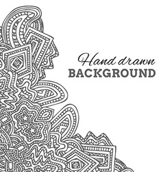 monochrome hand drawn background vector image vector image