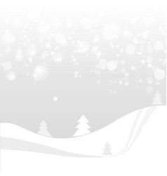 Natural colored abstract landscape with snow vector