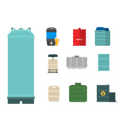 Oil drums container fuel cask storage rows steel vector