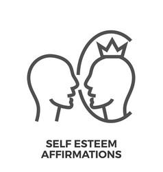 Self esteem affirmations vector