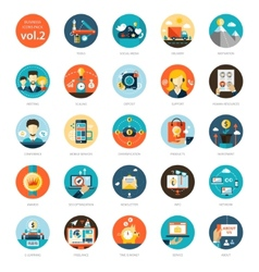 Set of modern flat design business infographics vector image vector image