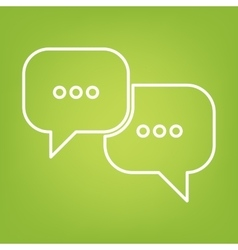 Speech bubles line icon vector