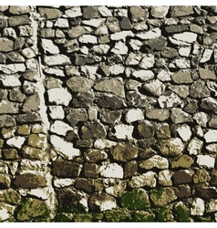 Stone wall vector image vector image