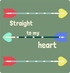 Straight to my heart vector
