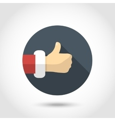 Thumb up hand icon vector image vector image