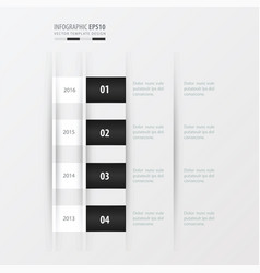 Timeline design design black and white color vector
