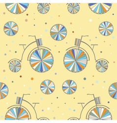 Vintage Bicycle Seamless Background vector image vector image