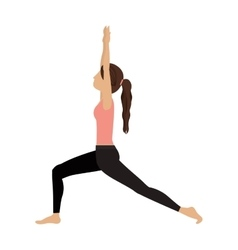 Colorful yoga high lunge crescent vector