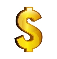 Dollar money gold icon vector