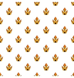 Toy castle pattern cartoon style vector
