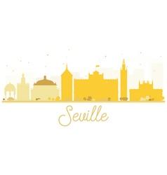 Seville City skyline golden silhouette vector image