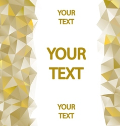 Yellow polygons background vector