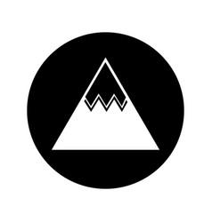 Mountain big isolated icon vector