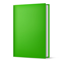 Classic green book in front vertical view vector