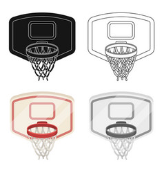 Shield with basketbasketball single icon in vector