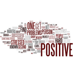Little known ways to be a positive person text vector