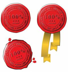 sale wax stamps vector image